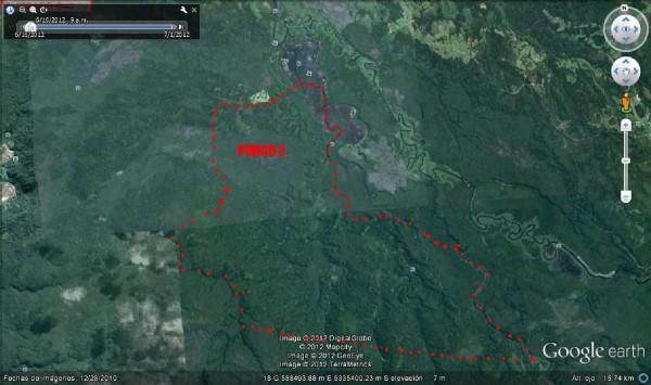 vista aerea en campo de isla de chiloe
