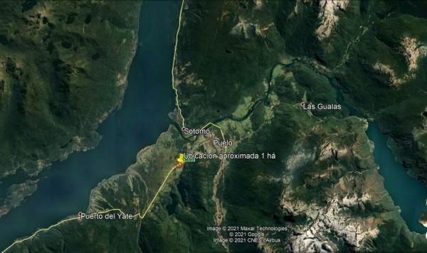 ubicacion parcela de 1 ha en Puelo